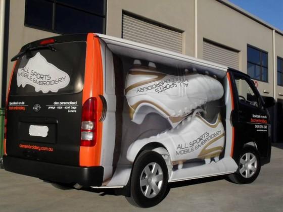 vehicle branding printing creative brands