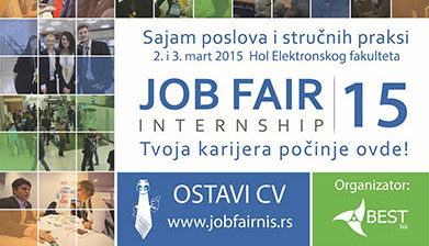 Sajam poslova i stručnih praksi – Јob Fair 2015