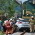 Tovorni vlak trčil v osebno vozilo